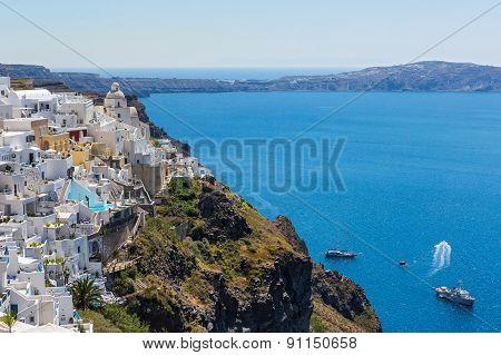Island Santorini, Fira Town