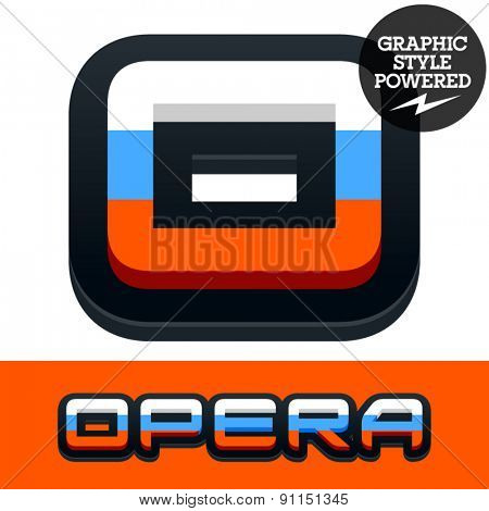 Vector set of Russian flag alphabet. File contains graphic styles available in Illustrator. Letter O