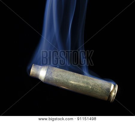 Smoking Cartridge After A Shot Was Taken