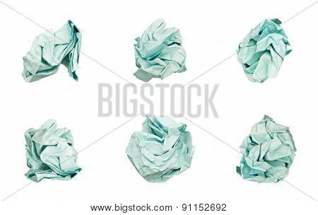 Balls Crumpled Paper isolated