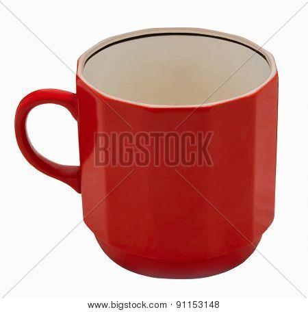 red mug, vector