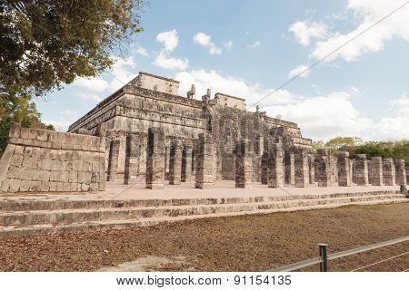 Archaeological site in Chichen Itza Mexico.