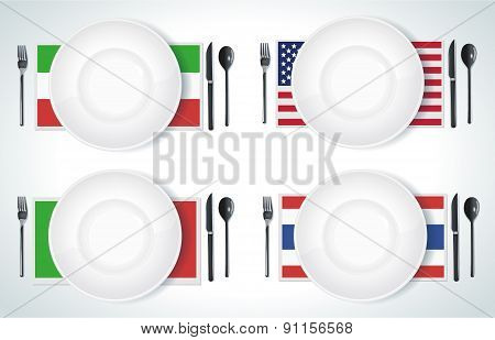 Clean Plate With Knife And Fork
