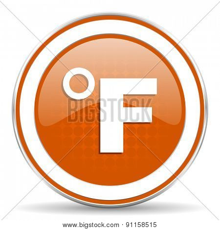 fahrenheit orange icon temperature unit sign