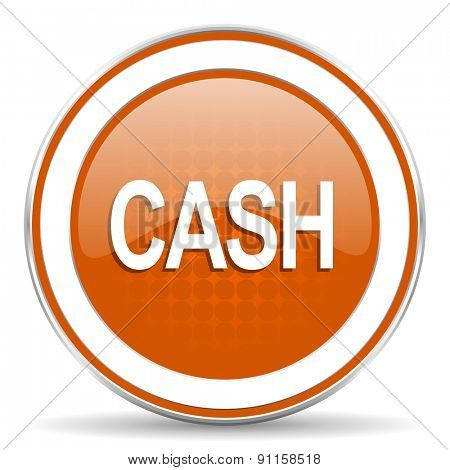 cash orange icon