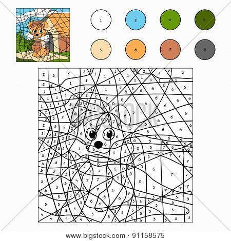 Color By Number (dog)