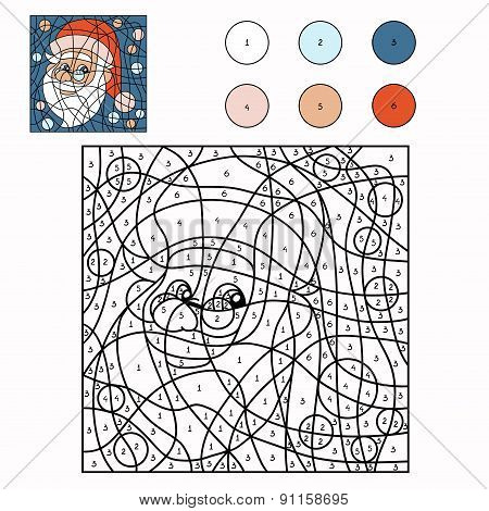 Color By Number (santa Claus)