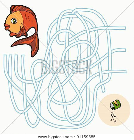 Maze Game For Children (fish)