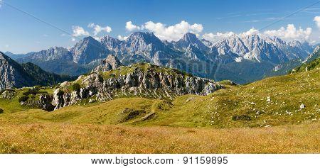 Panoramic View Of Alpi Dolomiti
