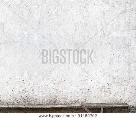 bench near the wall