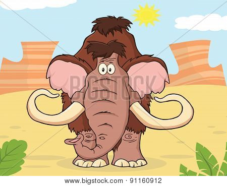 Woolly Mammoth Cartoon Character