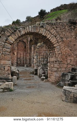 The Scholastica Baths in Ephesus