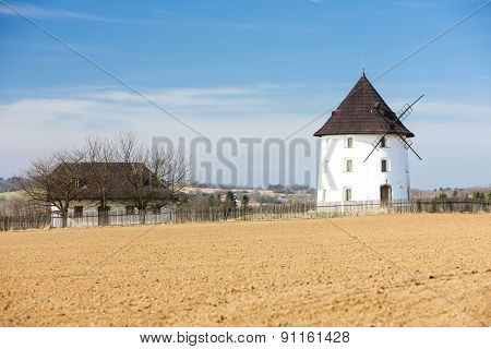 windmill near Mseno, Czech Republic