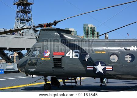 The Boeing Vertol CH-46 Sea Knight
