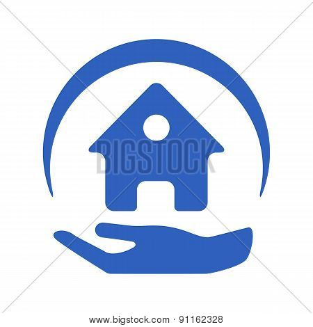 Home insurance vector logo