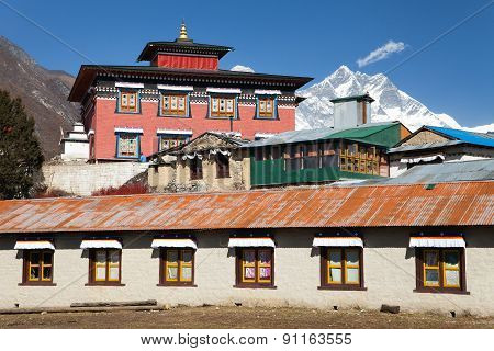 Tengboche Gompa With Mount Everest And Lhotse