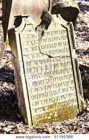 Jewish cemetery, Luze, Czech Republic