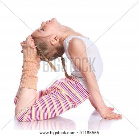Girl practice yoga