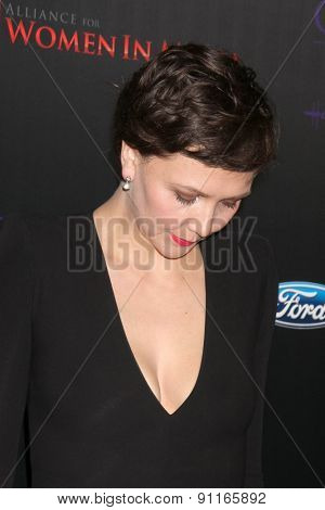 LOS ANGELES - MAY 19:  Peter Sarsgaard, Maggie Gyllenhaal at the 40th Anniversary Gracies Awards at the Beverly Hilton Hotel on May 19, 2015 in Beverly Hills, CA