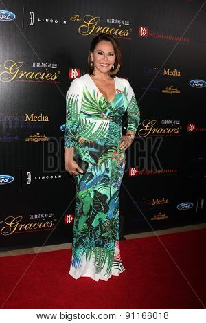 LOS ANGELES - MAY 19:  Maria Elena Salinas at the 40th Anniversary Gracies Awards at the Beverly Hilton Hotel on May 19, 2015 in Beverly Hills, CA