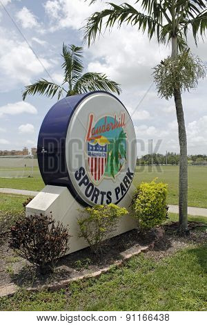 Sign At Lauderhill Sports Park