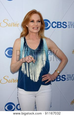 LOS ANGELES - MAY 18:  Marg Helgenberger at the CBS Summer Soiree 2015 at the London Hotel on May 18, 2015 in West Hollywood, CA