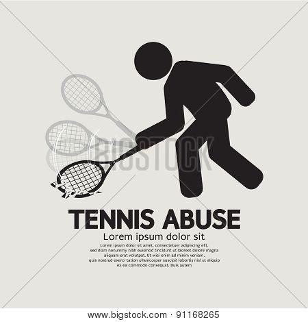 Black Symbol Graphic Tennis Abuse.