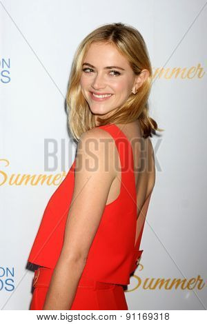 LOS ANGELES - MAY 18:  Emily Wickersham at the CBS Summer Soiree 2015 at the London Hotel on May 18, 2015 in West Hollywood, CA