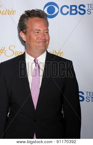 LOS ANGELES - MAY 18:  Matthew Perry at the CBS Summer Soiree 2015 at the London Hotel on May 18, 2015 in West Hollywood, CA