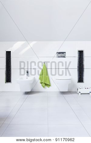 Simple White Restroom