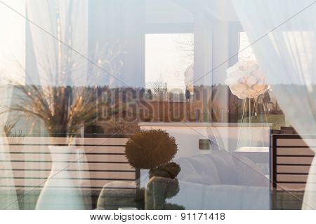 Lounge Behind Window