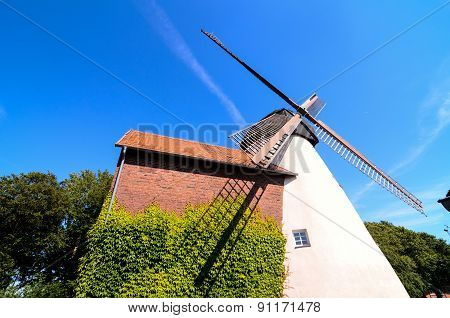 Traditional White Windmill