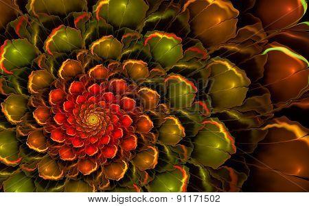 Glossy Red-green Flower