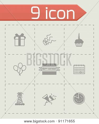 Vector Birthaday icon set