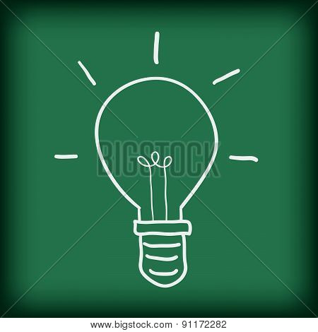 light bulb free hand doodle vector illustration