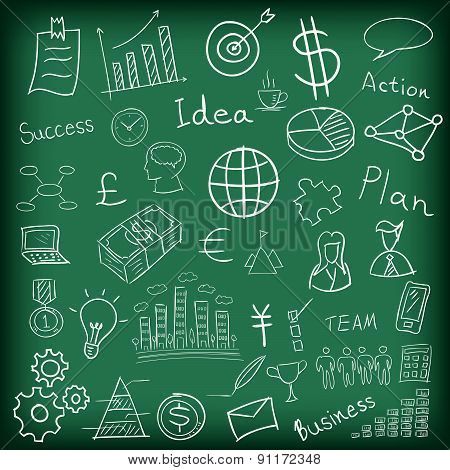 Business And Finance Hand Drawn Vector Illustration