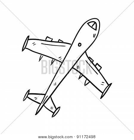 Airplane Hand Drawn Vector Illustration