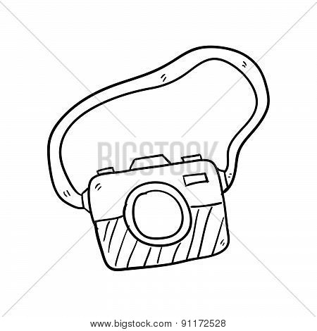 Camera Hand Drawn Vector Illustration