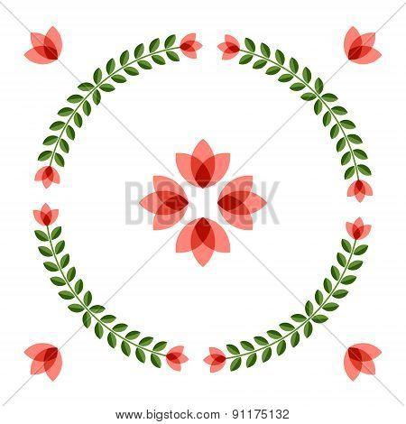 Design Elements With Scandinavian Flowers