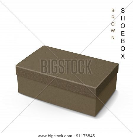 Brown Leather Shoe Box