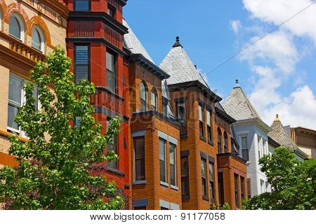 Historic residential architecture of Washington DC.