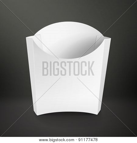 Blank Package Container For French Fries