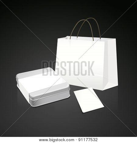 White Paper Bag Gift Set