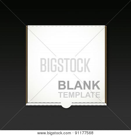Blank Pizza Box Template