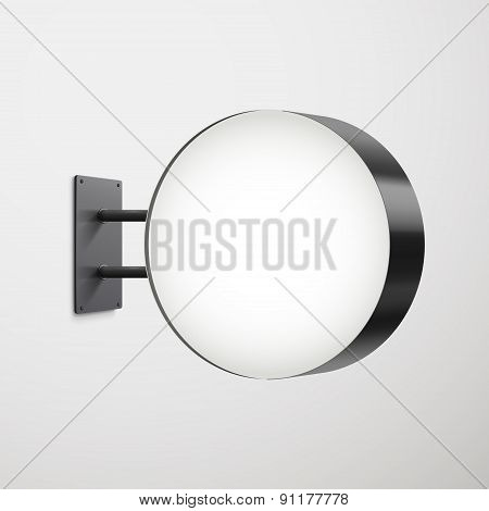 3D Advertising Round Signboard