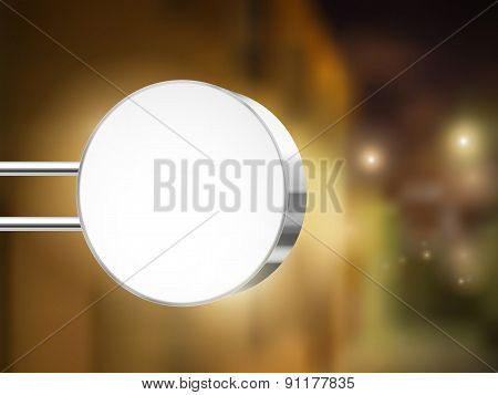 Silver 3D Advertising Round Signboard