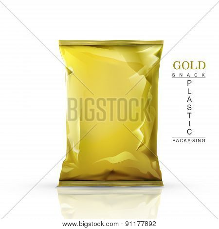 Gold Snack Plastic Packaging