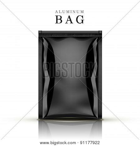 Black Aluminum Bag
