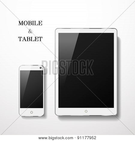 Blank Mobile And Tablet Set