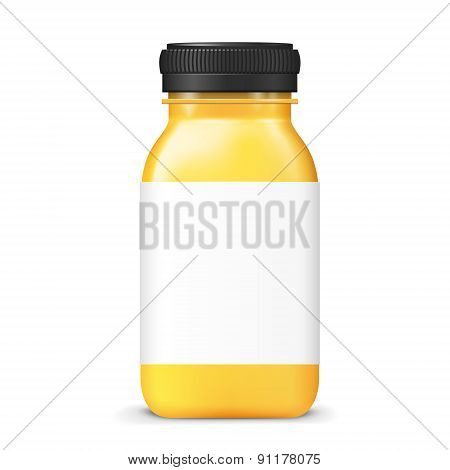 Juice Bottle With Blank Label